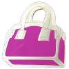 Tussi-Tasche Geocoin in Pink LE