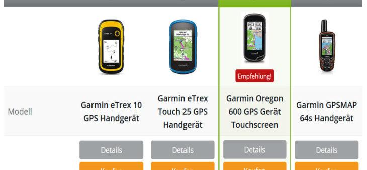 GPS Geräte Empfehlung nicht nur für Geocaching