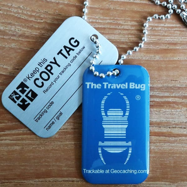QR Travel Bug Blau