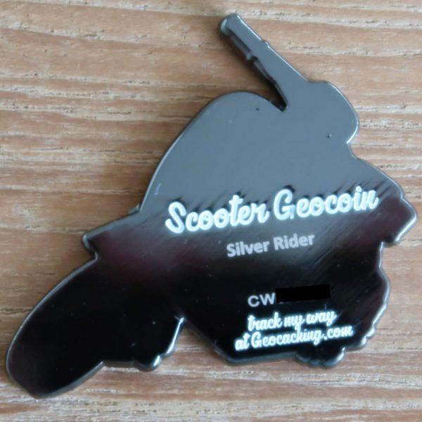 Scooter Geocoin Rückseite