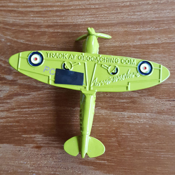 Avroair Spitfire Geocoin Tan