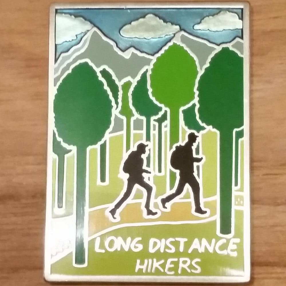Hikers Geocoin back